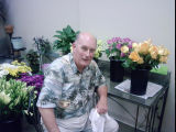 Florist William Yost Jr. pictured inside his shop