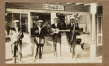 African American Band in front of store